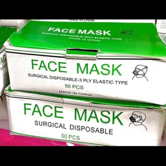 100 disposable face masks